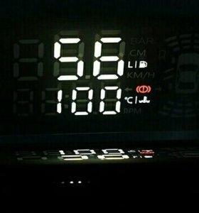 Hud проектор (obd2) на стекло для Chev. Cruze
