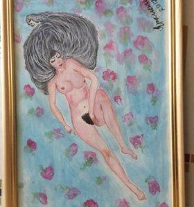 """Картина акварелью """"My Passion"""""""
