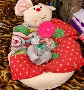 Подушка для кормления sit me up для новорожденных