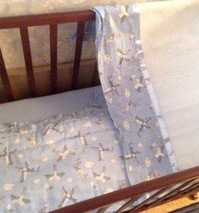 Бортики и балдахин в детскую кроватку