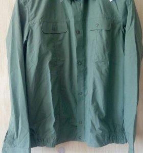 Рубашка военная оливкового цвета