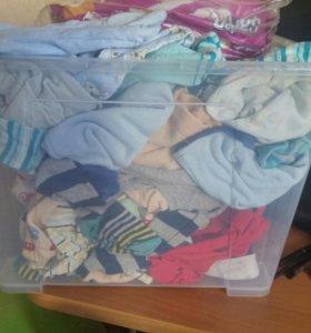 Отдам пакет с вещами для новорожденного ( мальчика