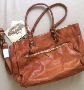 Новая кожаная сумка campomaggi
