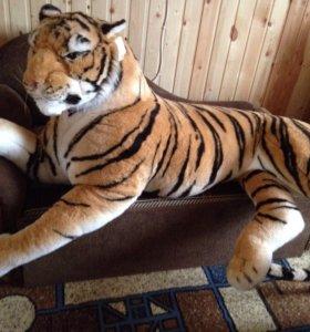 Мягкие игрушки Огромный тигр и львица новые