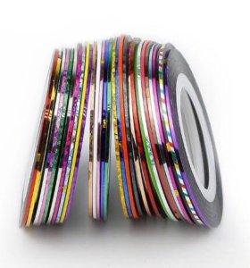 15 шт - Нить разноцветная для ногтей