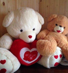 Мягкие игрушки Плюшевые большие медведи новые