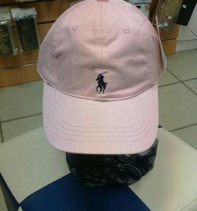 Бейсболка кепка Polo с кожаным ремешком новая