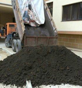 Щебень чернозем песок глина отсев