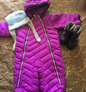 Комбинезон и ботинки зимние