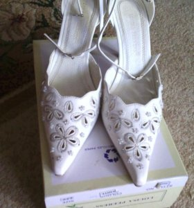 Свадебные туфли-кожа