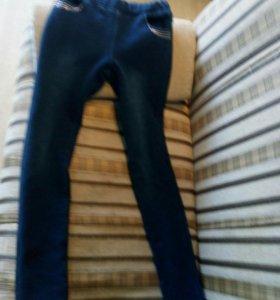Теплые джинсы - ткань