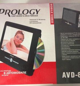 Переносной TFT ЖК монитор с DVD проигрывателем