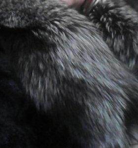 Полушубок с чернобуркой