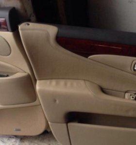 Lexus LS460 обшивка дверей и элементы салона