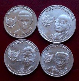Индонезия 4 монеты 2016г