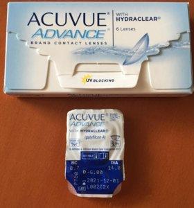 Контактная линза Acuvue Advance D -6 BC 8.7
