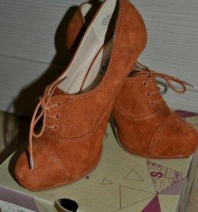 П/ботинки женские новые 37 p-p