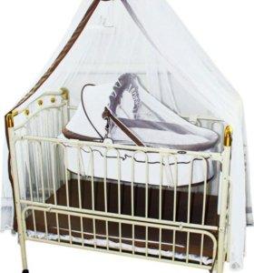 Кроватка детская металическая Geoby