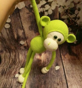 Вязанная обезьянка