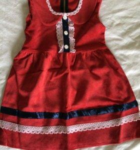 Платье вельветовое 4-5лет