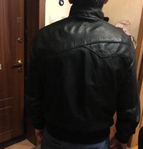 Мужская кож куртка