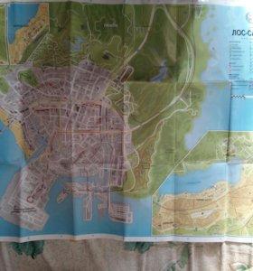 Постер (карта) Grand Theft Auto 5