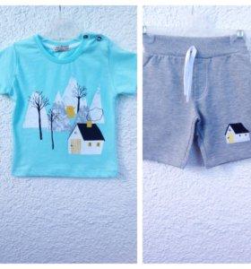 Новый комплект с шортами