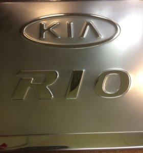 Накладка на лючок Kia Rio II (Киа Рио 2) 05-11