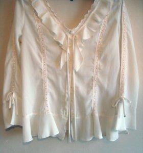 Белая блузка. Размер 50.