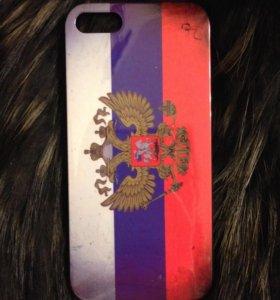 Флаг РФ чехол-накладка на iPhone 5 5S