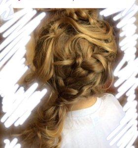Причёска на выпускной в детский сад