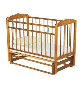 Кроватка детская маятник цвет орех