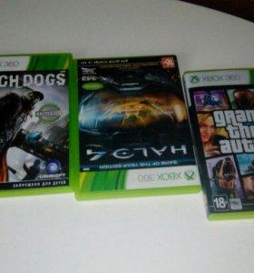 Xbox360+3 игры + 1 джостик