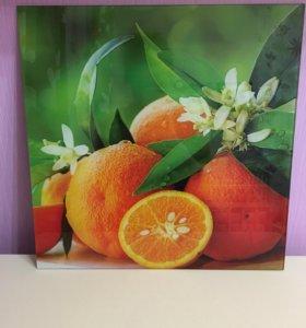 Стеклянная картина Апельсин Декоретто