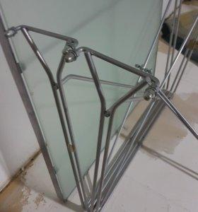 Стол раскладушка стекло металл интерьер
