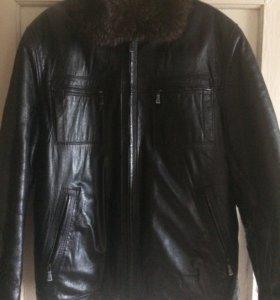 Куртка кожаная,зимняя