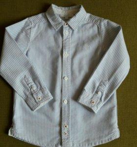 Рубашка Jacadi белая в полоску