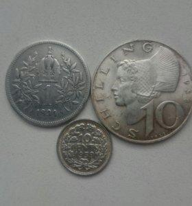 Серебряные монеты Австрии и Голландии