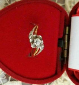 Кольцо брилиантовое серьги цепочка браслет