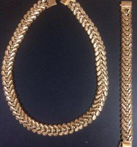 Золотая цепь (колье ) , золотой браслет