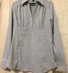 Блуза серая в полоску. Новая. Можно беременным
