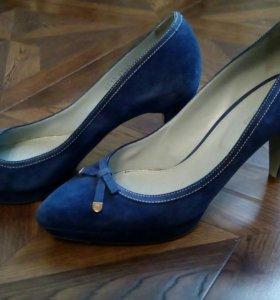 Sergio Rossi бренд италия туфли синие 40 р
