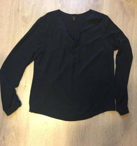 Блузка 1.2.3 вискоза темно-синяя