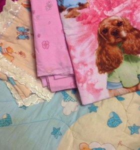 Матрас ортопед одеяло подушка три комплекта белья