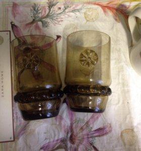 2 бокала стакана салфетницы