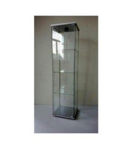 Шкаф, стеллаж стеклянный с подсветкой