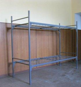 Кровать двуярусная металлическая 2С1