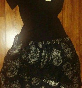 Костюм (футболка, юбка)