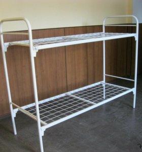 Кровать двуярусная металлическая 2С2