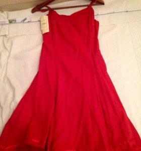Красный сарафан платье 42 Новый